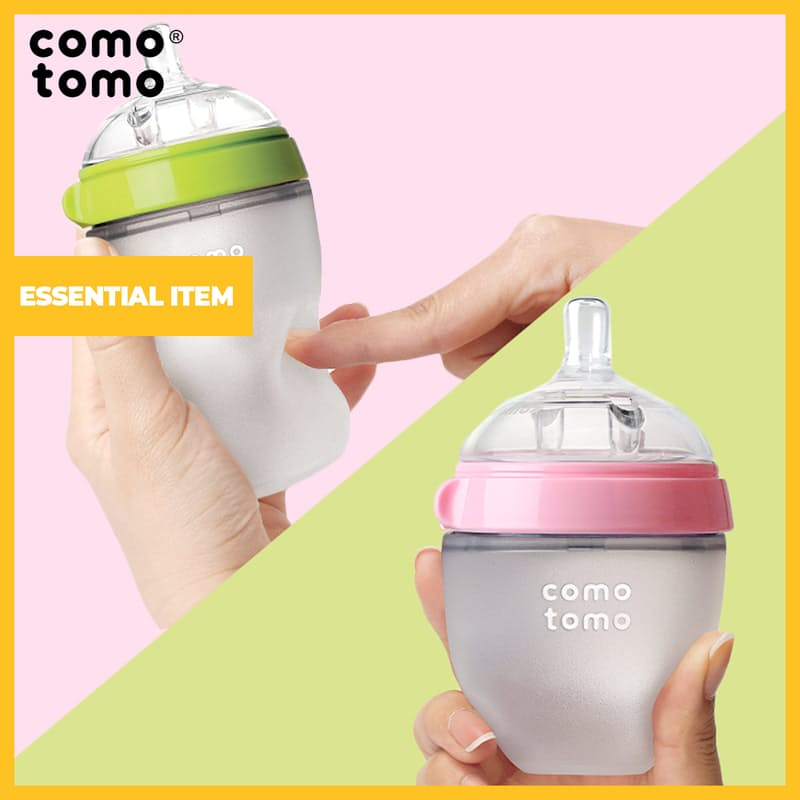 Natural Feel Baby Bottle (100% Medical-grade Silicone)