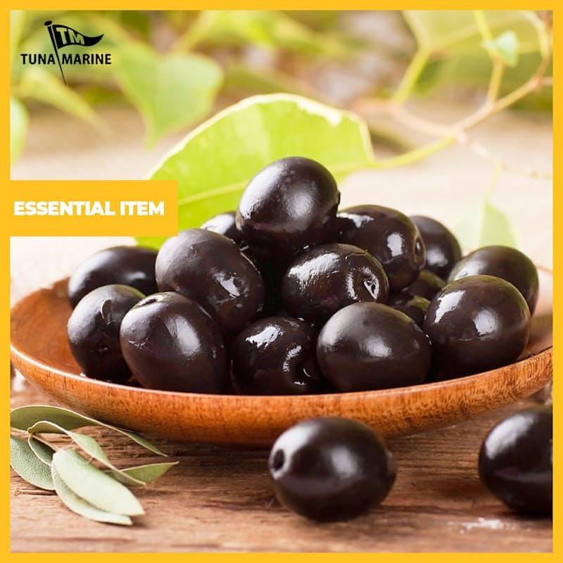 3.05kg Tin of Whole Black Olives