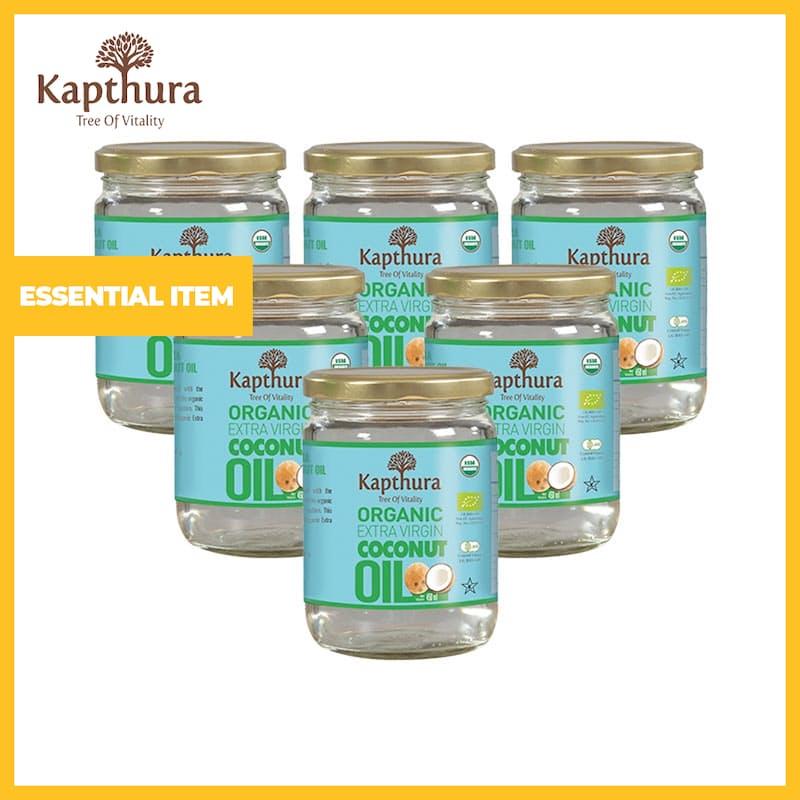 Pack of 6, 450ml Organic Extra Virgin Coconut Oil