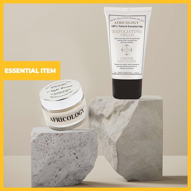 2-Piece Detoxing & Moisturizing Skin Set (Night Cream and Exfoliating Cream)