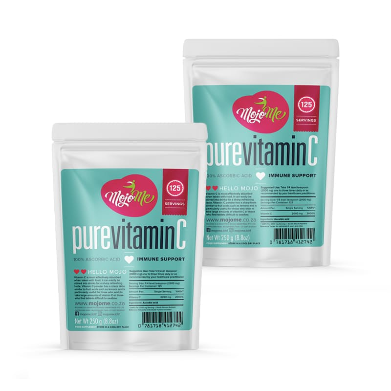 Pack of 2 250g 100% Pure Vitamin C Powder (500g in Total)