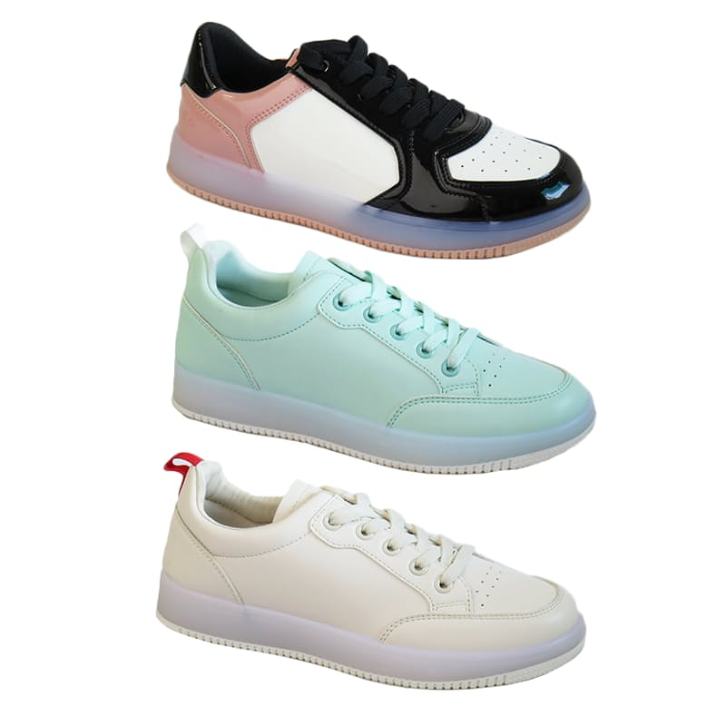 Ladies Retro Matte Sneakers