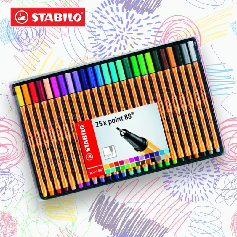 Wallet of 25 88 Fineliner Pens