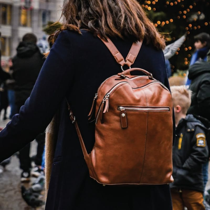 Genuine Leather Chelsea Backpack