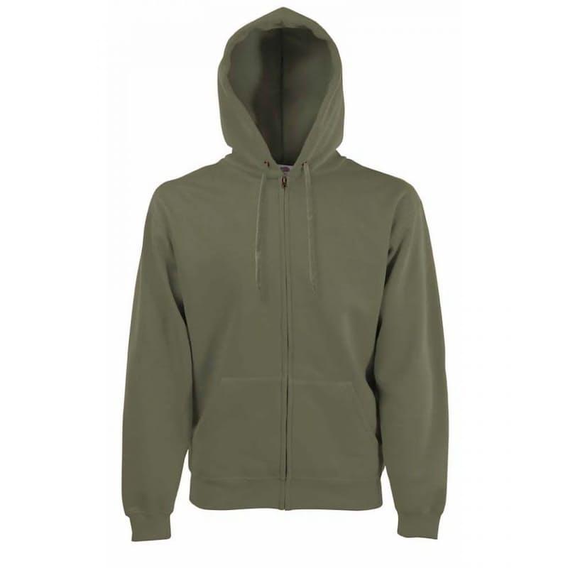 Men's Zip Thru Hooded Sweat Jacket