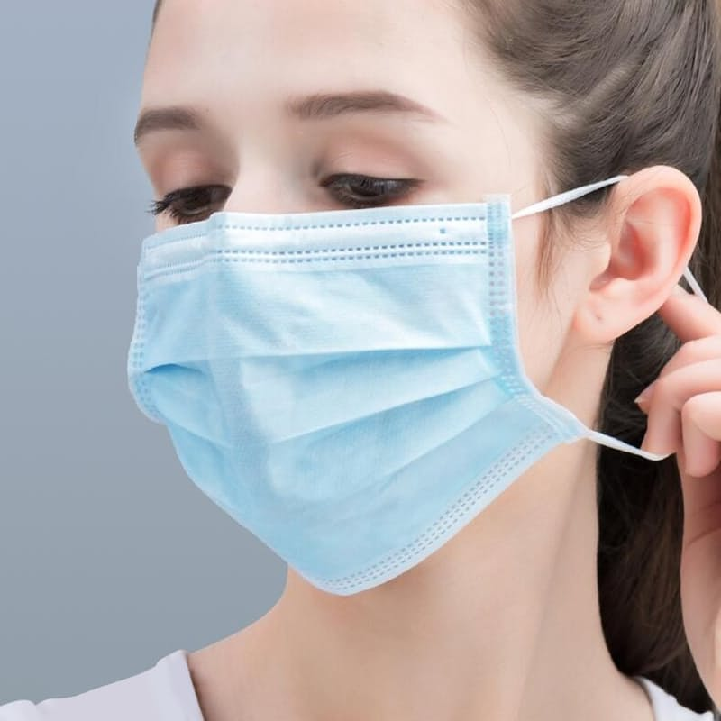FDA Approved Disposable 3-Ply Medical Masks (Pack of 50 )