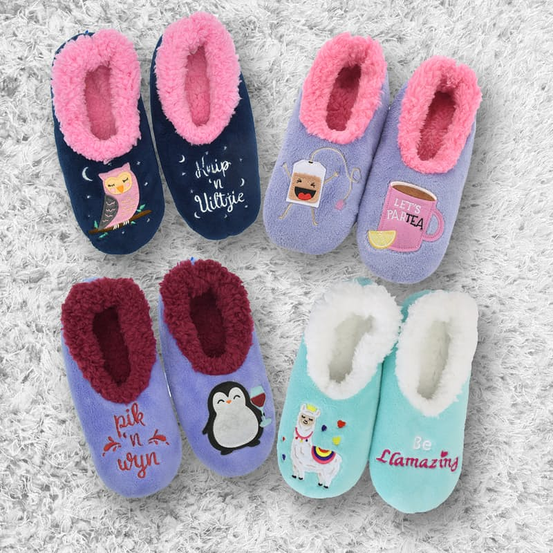 Ladies Pairable Warm Slippers