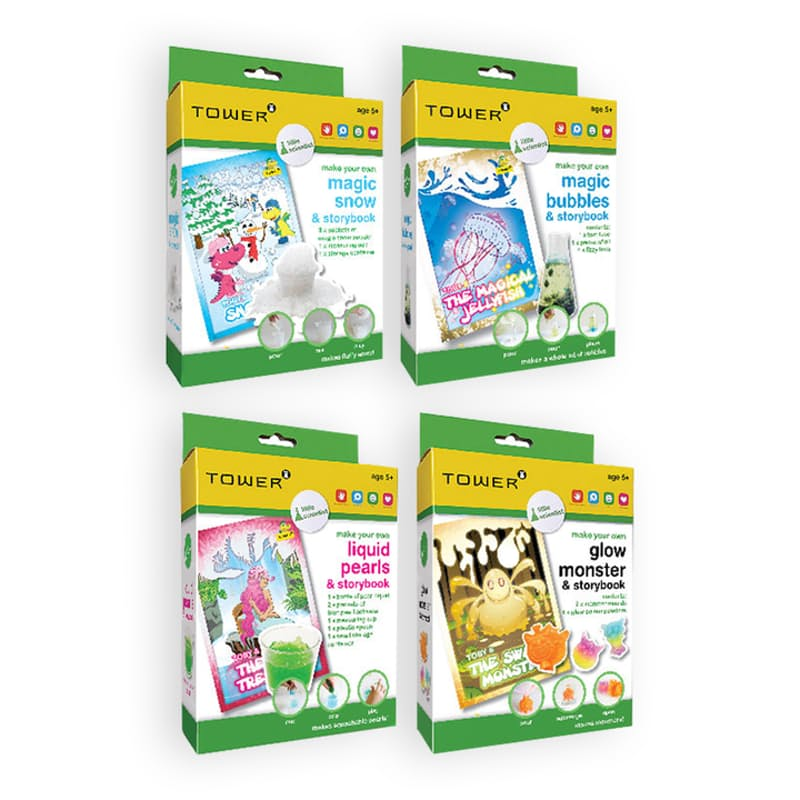 Pack of 4 Little Scientist with Storybooks Bundle