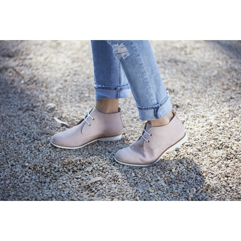 Ladies Genuine Nubuck Leather Shoe (Available in Nude and Taupe)