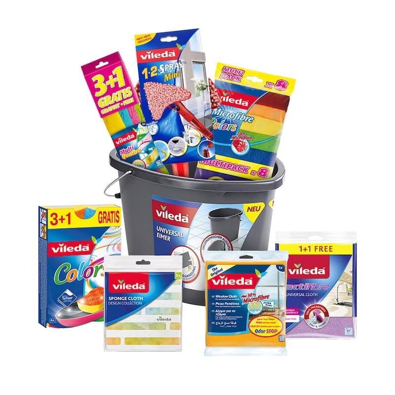 8-Piece Household Cleaning Essentials & 7L Bucket