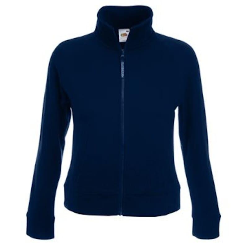 Ladies Fit Zip Thru Sweat Jacket