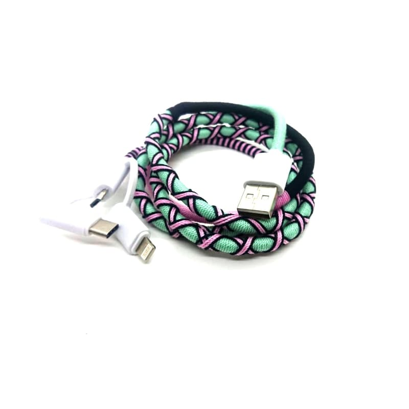 3-in-1 Woven Charging Cable