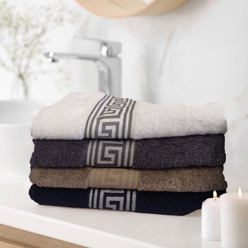 Set of 2, 600gsm Versace Luxury Hand Towel, Bath Towel or Bath Sheet