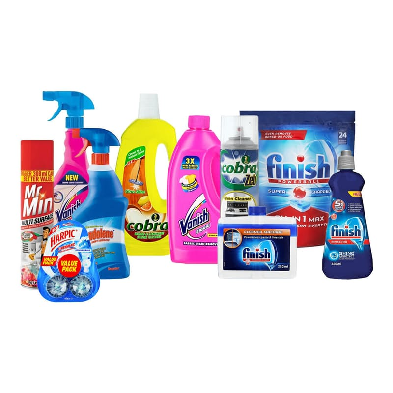 10 Piece All In One Home Cleaning Bundle