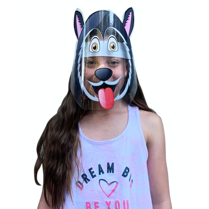 Pack of 2 Kids Protective Shield Masks with DIY Theme'd Stickers
