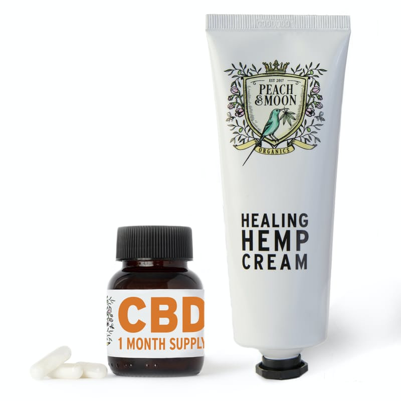 30 CBD Biodegradable Vegan Capsules with Healing Hemp Cream