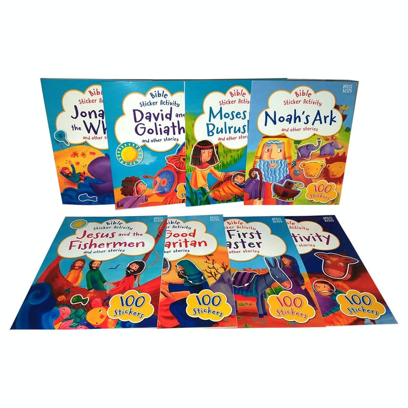 My Bible Sticker Activity Softcover Books and 800 Sticker Set (8 Books)