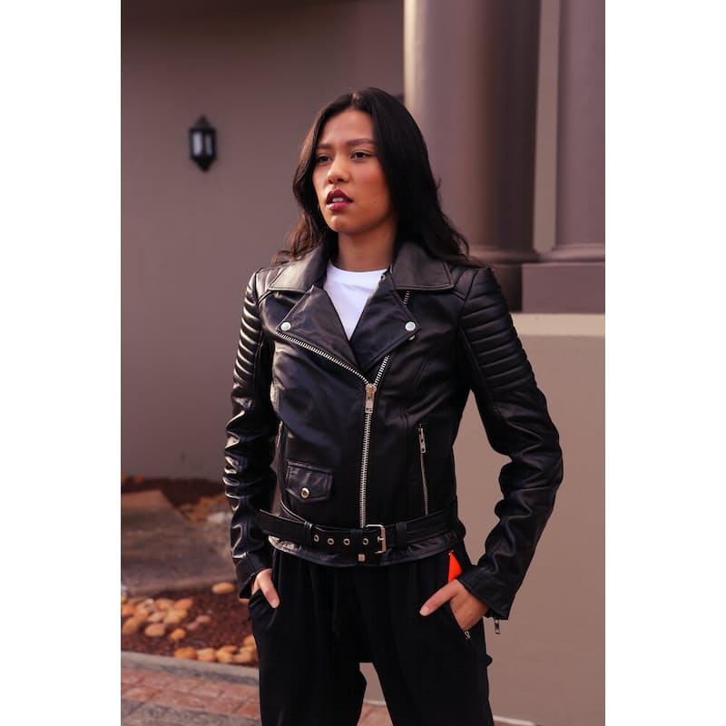 Ladies Leather Biker Jackets