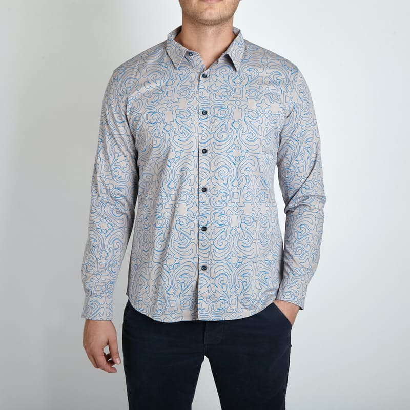 Mens Premium Fitted Cotton Shirts (Multiple Styles Available)