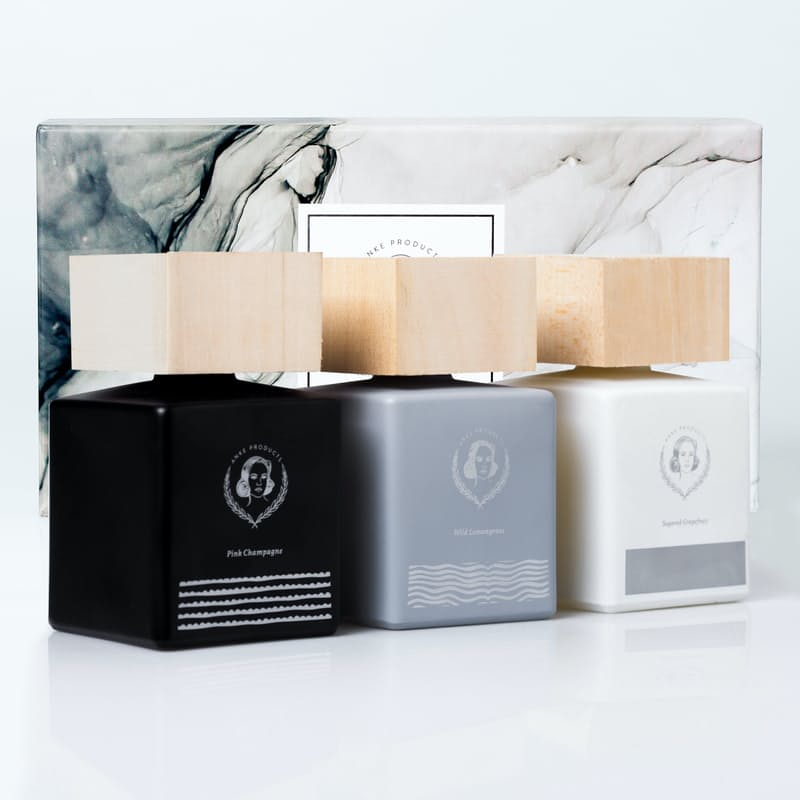 Wooden Top Fragrance Diffuser Gift Set (160ml x 3)