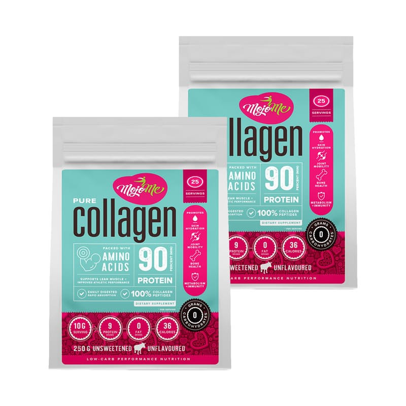 Pack of 2 or 3, 250g 100% Pure Hydrolysed Collagen Powder