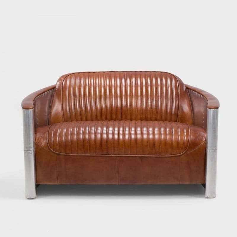 Two Seater Full Grain Leather Chair