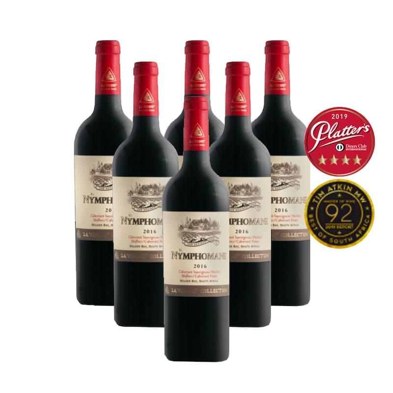 Hemel en Aarde Nymphomane Bordeaux Style Blend 2016 (R116.50 per Bottle, 6 Bottles)