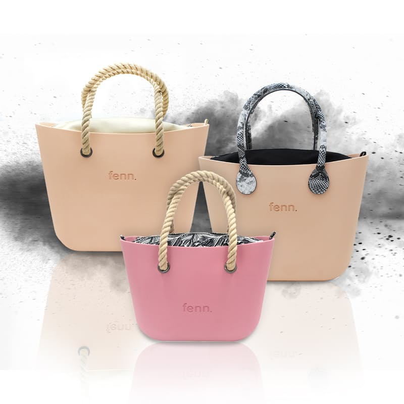 Original or Petite Collection Handbags with Patterned or Plain Inners and Handles