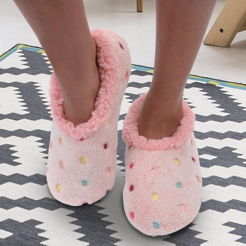 Ladies Lotsa Dots Cozy Slippers