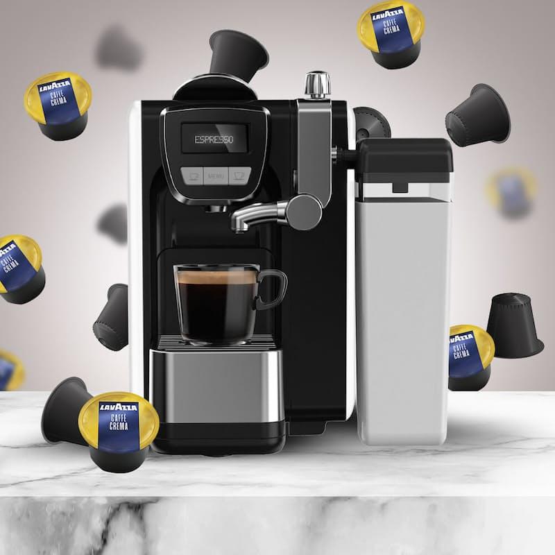 Lavazza BLUE Compatible Fresh Milk Espresso Capsule Machine with 100 Capsules