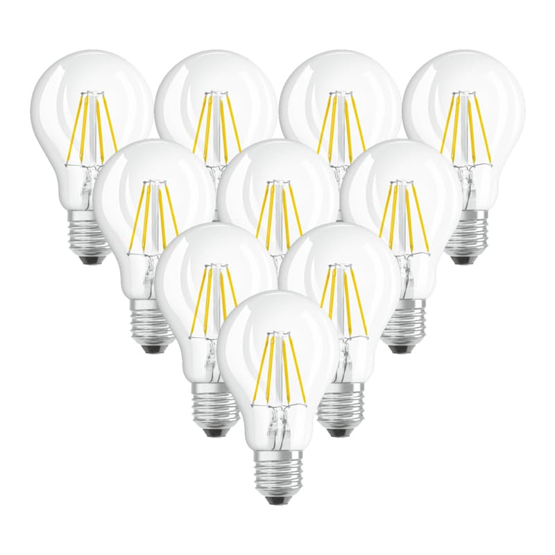 Pack of 10 4W or 7W Warm White Classic Light Bulbs