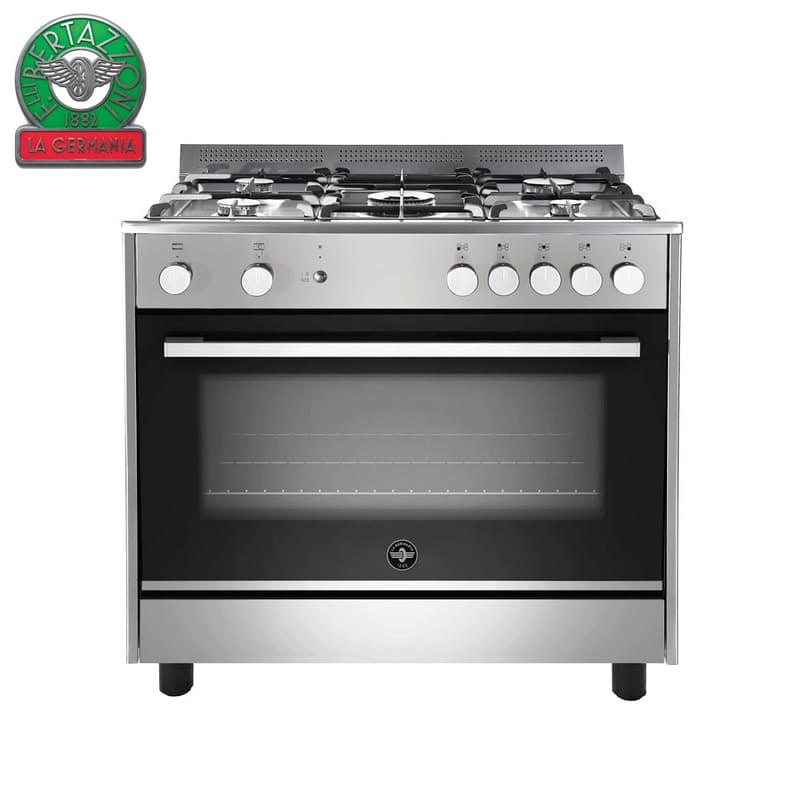 Parma 90cm Stainless Steel 5-Burner Gas Hob with Electric Oven