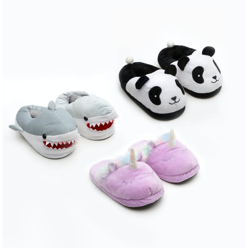 Soft Funky Winter Plush Slippers