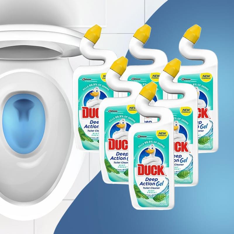 Pack of 6 Deep Action Toilet Gel (500ml Each)
