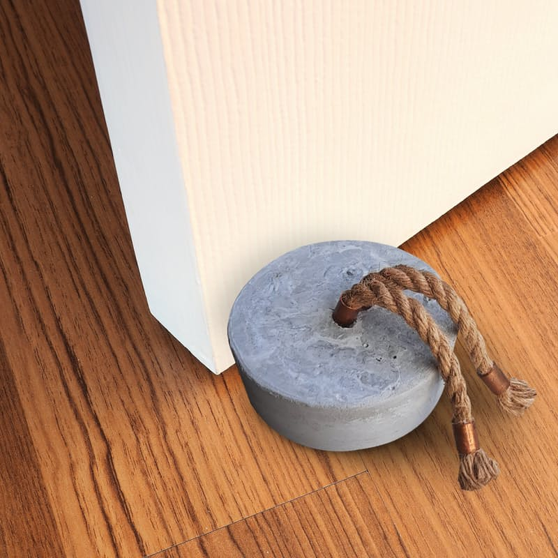 Handcrafted Cement Doorstop with Copper Finishing
