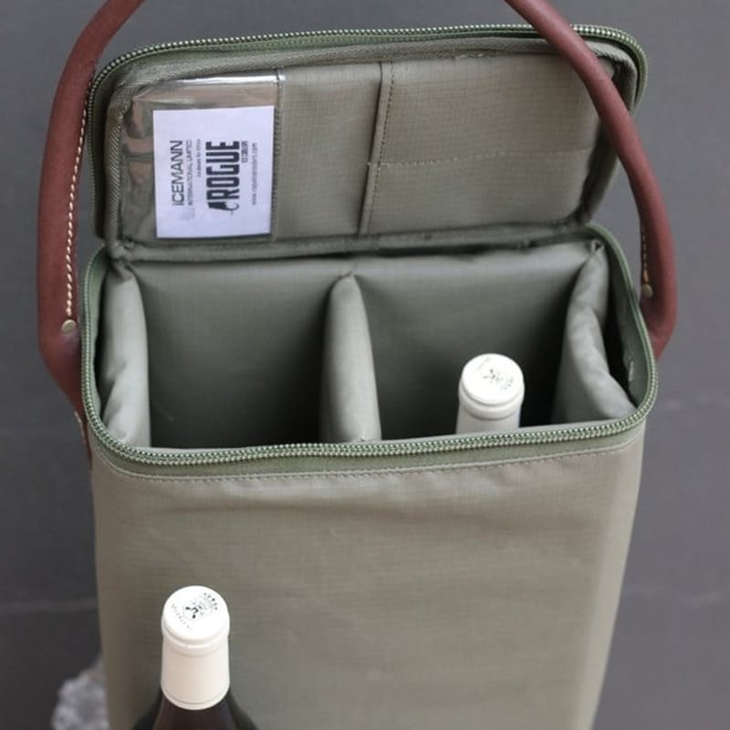 Two Bottle Wine Cooler with Bottle Opener Included