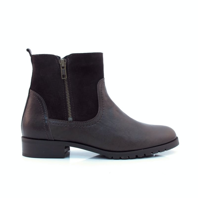 Ladies Genuine Suede Leather Ankle Boot