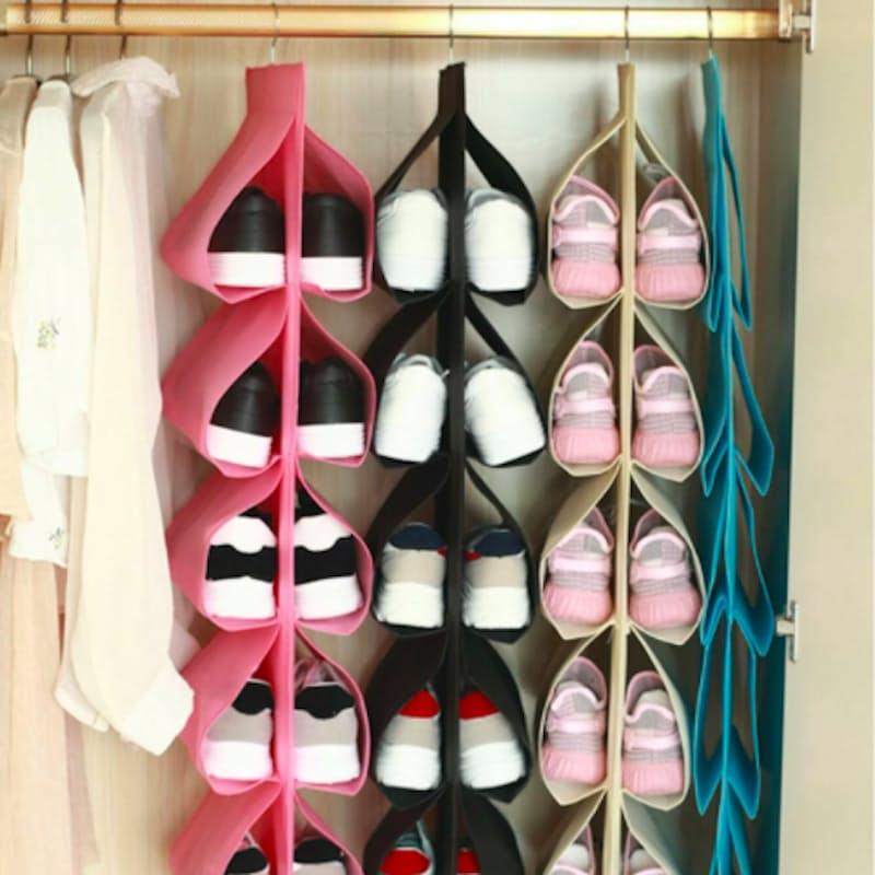 12 Pocket Hanging Shoe Organiser