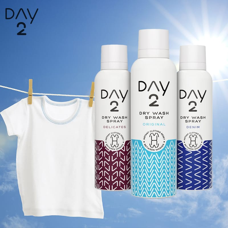 Pack of 3 Dry Wash Clothes Spray 200ml