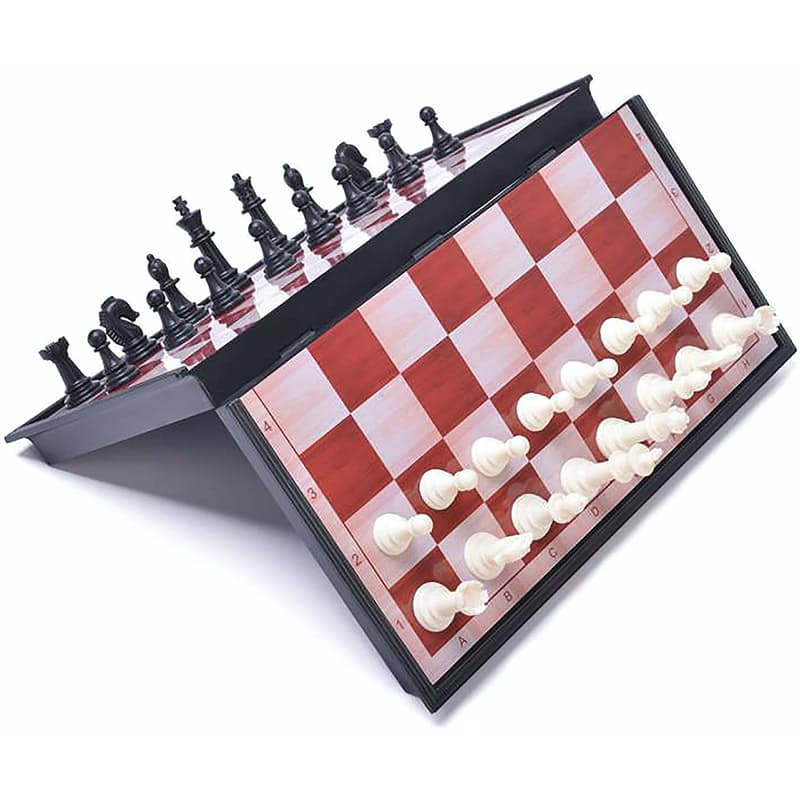 Magnetic Chess Set with Foldable Chessboard