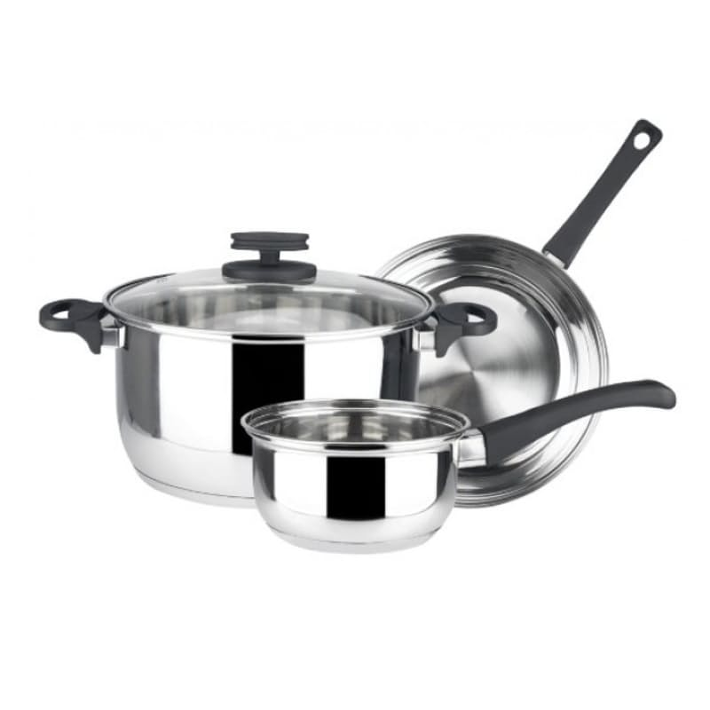 4 Piece Stainless Steel Cookware Set