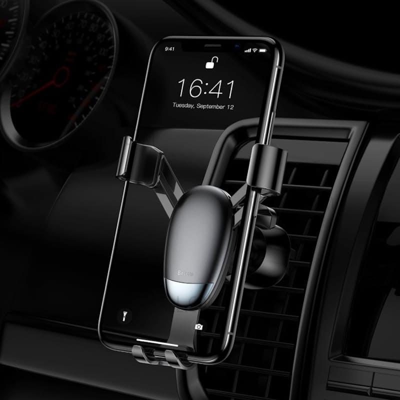 Mini Gravity Car Aircon Vent Smartphone Mount Holder (Black)