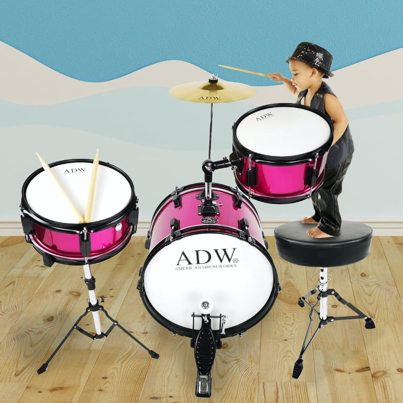 Junior 3-Piece Drum Set with Cymbal