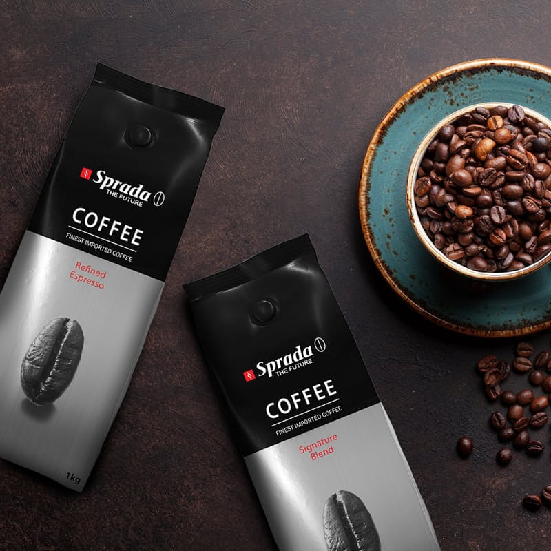 Pack of 2 or 4, 250g or 1kg Coffee Beans (Two Blends Available)