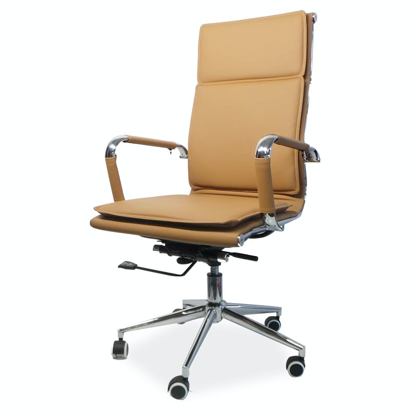 Eames Style High Padded Back Office Chair with Gas Height Adjustment