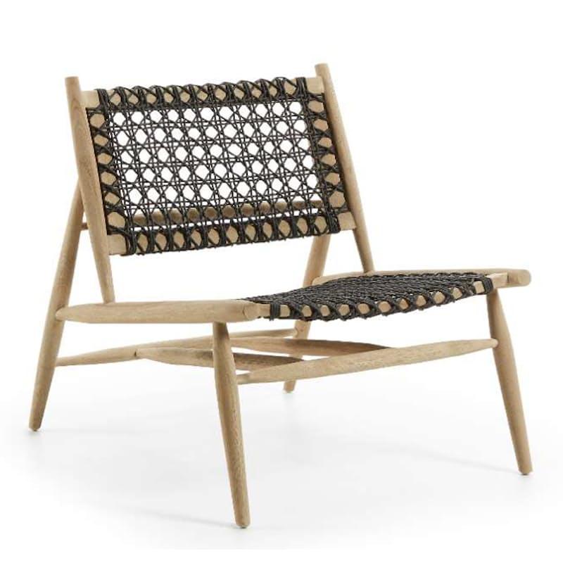 Japanese Inspired Unika Armchair in Solid Teak Wood