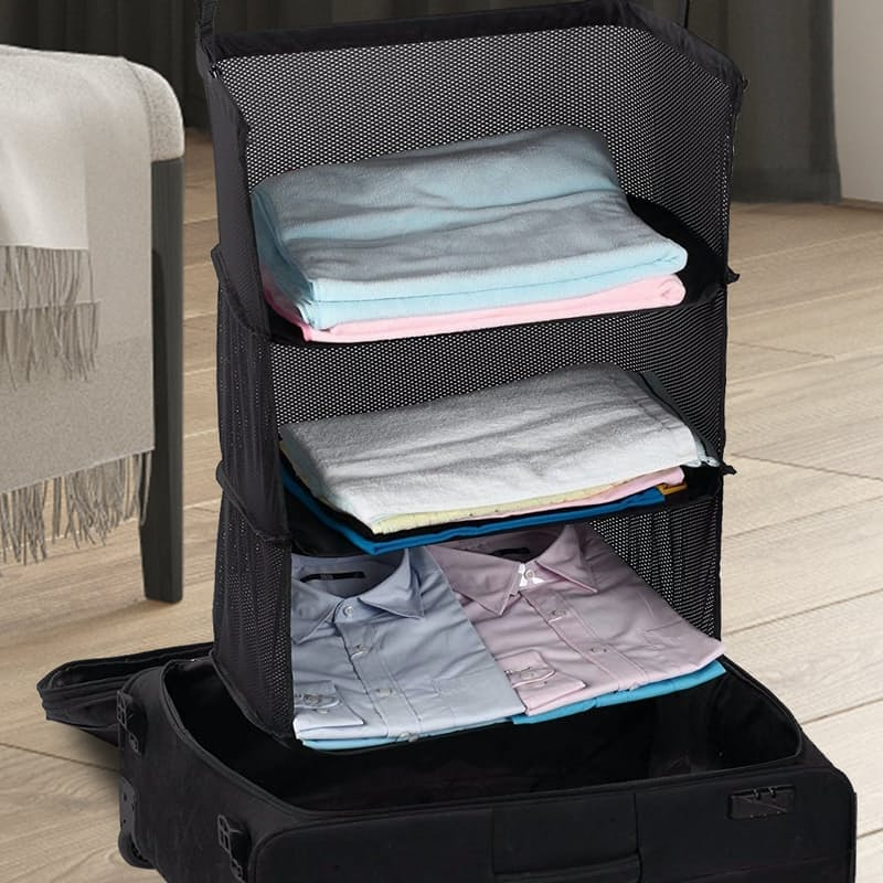 Packable Suitcase Organising Shelves
