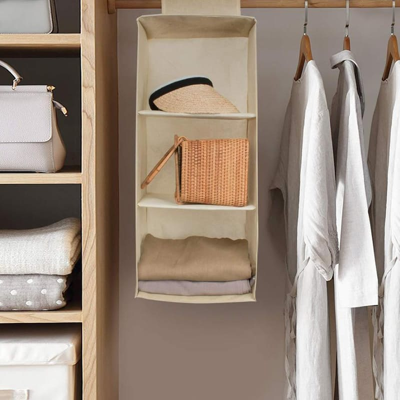 Pack of 2 Collapsible Hanging Wardrobe Shelves