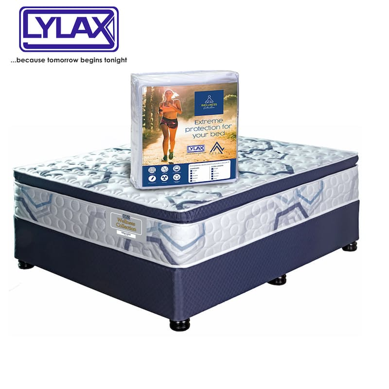 Wellness Collection Marcella Pillow Top Flip Free Bed Set with Antiviral Pillow Mattress Protectors