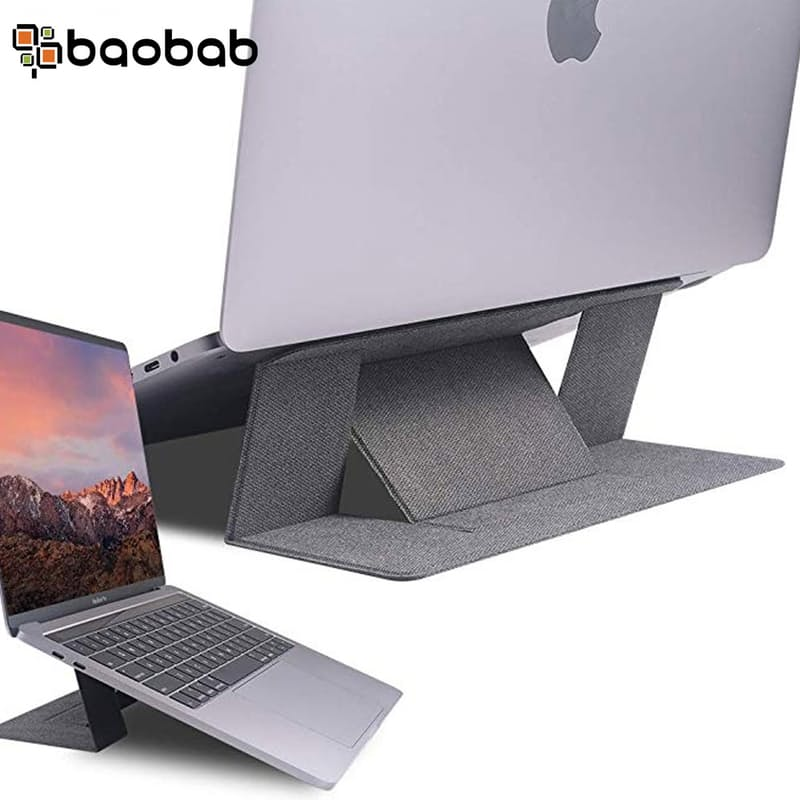 Invisible Foldable Slim Notebook Stand (Grey & Dark Grey Available)